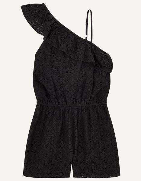 Lace Playsuit  Black, Black (BLACK), large
