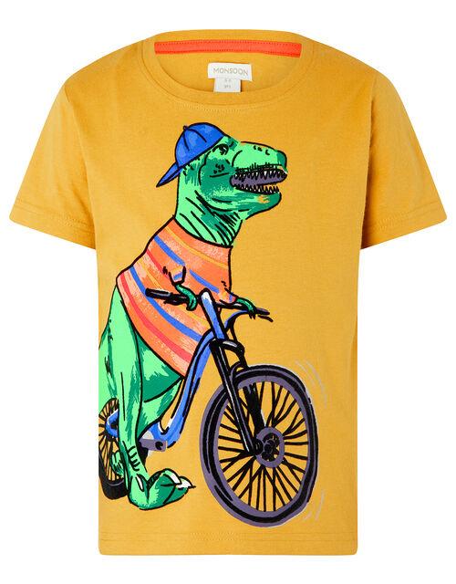 Rex Dinosaur T-shirt, Yellow (MUSTARD), large