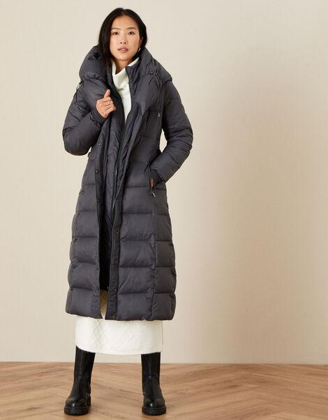 Lauren Padded Maxi Coat Grey, Grey (CHARCOAL), large