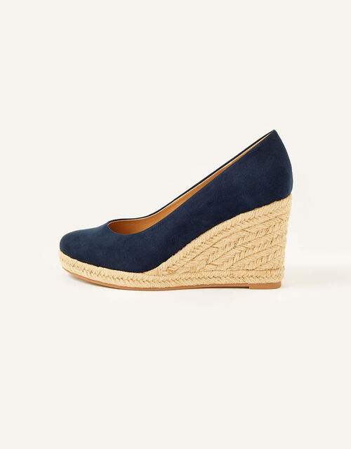 Elena Espadrille Wedges, Blue (NAVY), large