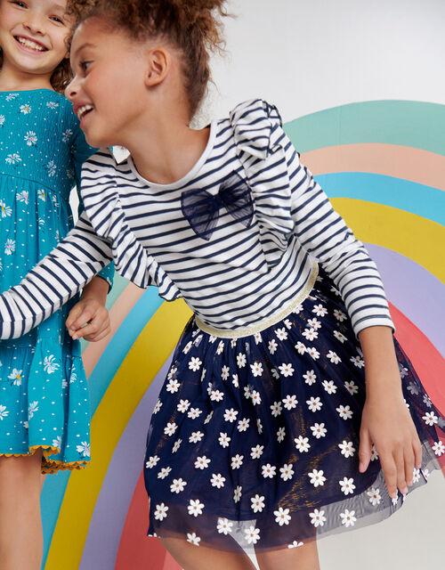 Glitter Daisy 2-in-1 Dress, Blue (NAVY), large