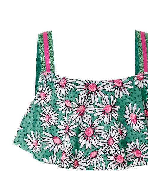 Daisy Print Bikini Set, Green (GREEN), large