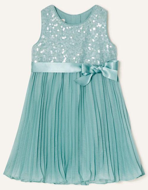 Baby Keita Sequin Dress, Green (MINT), large