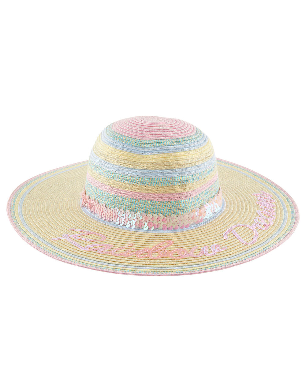 Rainbow Dreams Sequin Floppy Hat, Multi (MULTI), large