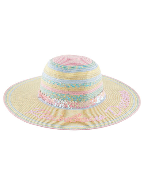 Rainbow Dreams Sequin Floppy Hat Multi, Multi (MULTI), large