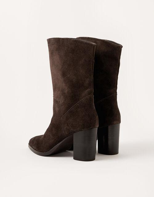 Sam Suede Block Heel Boots, Brown (CHOCOLATE), large