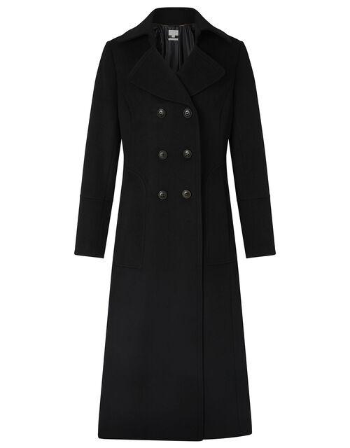 Charlotte Maxi Coat, Black (BLACK), large