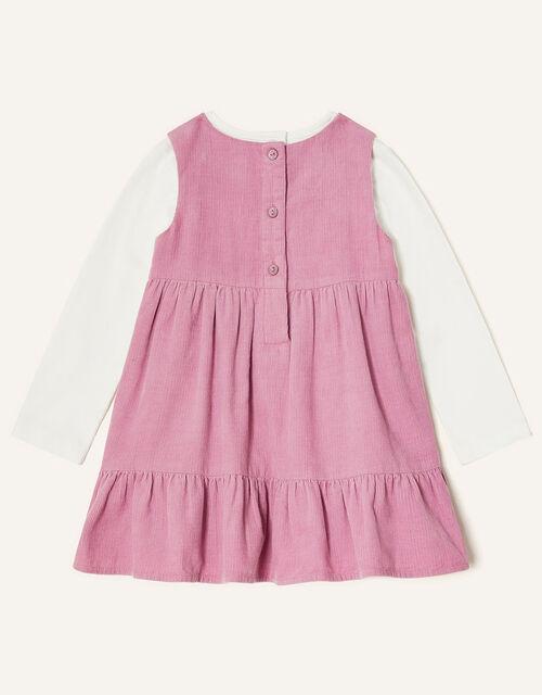 Baby Fox Cord Dress Set, Pink (PINK), large