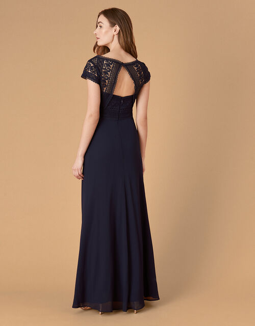 Julie Lace Bodice Maxi Dress, Blue (NAVY), large