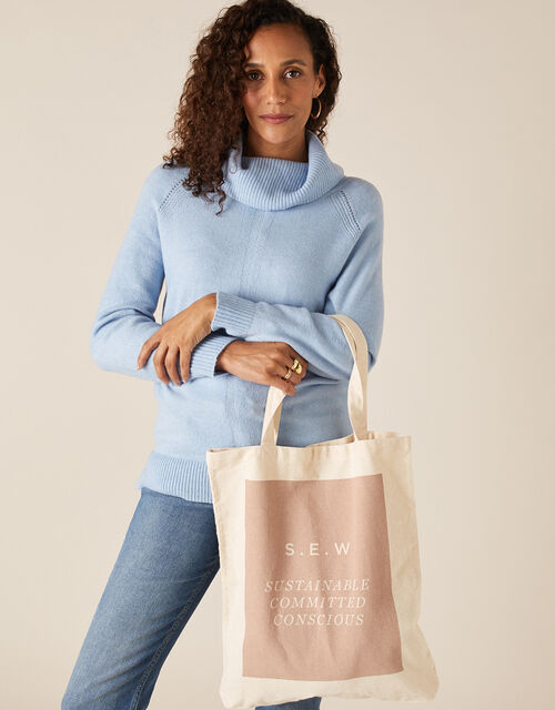 S.E.W Shopper Bag in Organic Cotton, , large
