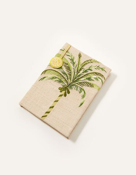 Embroidered Palm Tree Notebook, , large
