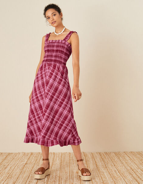 Clement Check Sundress Red, Red (RED), large