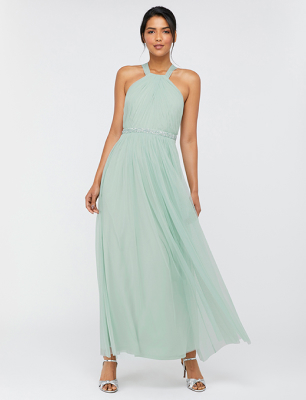 Ellison twist embellished maxi dress
